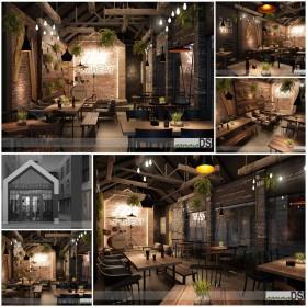Thư viện 3dsmax Phối cảnh nội thất quán Coffe 16 Coffee-GAMMADSGN