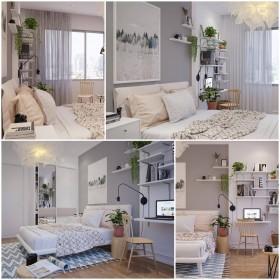 Phối cảnh phòng ngủ phong cách Hiện đại đẹp full file Max 00085