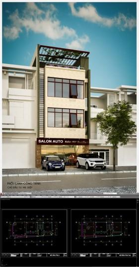 Hồ sơ thiết kế Nhà Phố 4 tầng thóp hậu với diện tích 6,2x14,2m 127