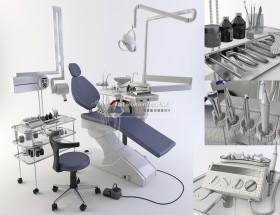 Thư viện 3D model về Thiết bị máy móc Nha khoa cho Nha sỹ