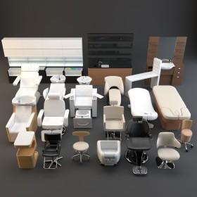 Thư viện 3D model về các loại ghế ngồi Spa, cắt tóc