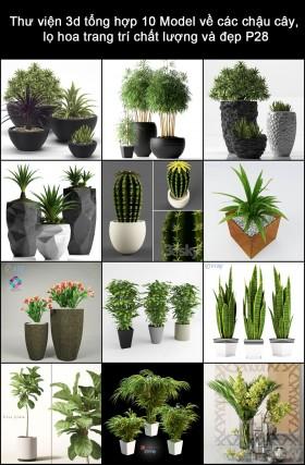 Thư viện 3d tổng hợp 12 Model về các chậu cây, lọ hoa trang trí chất lượng và đẹp P28
