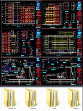Hồ sơ thiết kế kiến trúc Tòa nhà làm việc công ty sản xuất Dược phẩm mẫu số 009
