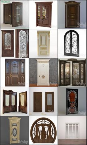 Thư viện 3d tổng hợp 15 model cửa gỗ đẹp các loại cổ điển Châu âu P14