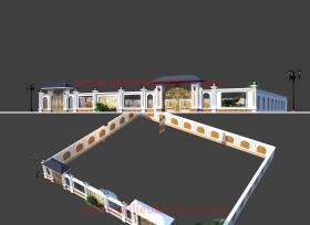Thư viện 3dsmax File 3d thiết kế cổng nhôm đúc, tường rào biệt thự tân cổ điển P15