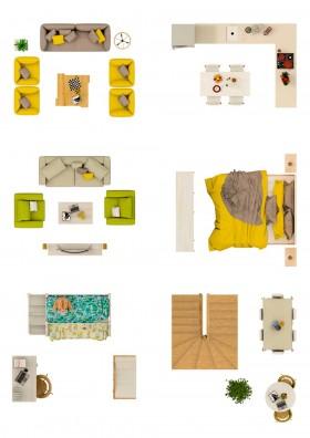 Thư viện mặt bằng Photoshop tổng hợp về Các loại đồ đạc trong nhà 015 download