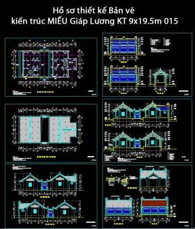 Hồ sơ thiết kế Bản vẽ kiến trúc MIẾU Giáp Lương KT 9x19.5m 015
