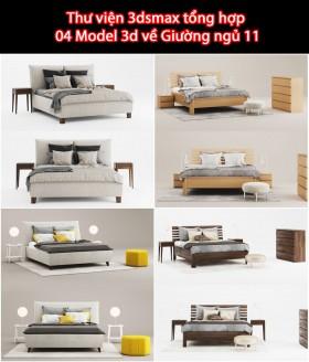 Thư viện 3dsmax tổng hợp 04 Model 3d về Giường ngủ 11