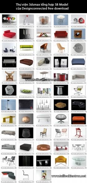 Thư viện 3dsmax tổng hợp 58 Model của Designconnected free download