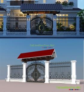Thư viện Max Model 3d Cổng biệt thự phong cách tân cổ điển P9