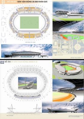 Đồ án tốt nghiệp kiến trúc - Thiết kế Sân vận động với 20.000 Chỗ ngồi 03