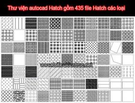Thư viện Autocad Hatch gồm 435 mẫu Hatch trong autocad