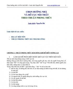 Sách phong thủy Chọn hướng nhà và bố trí nội thất theo phong thủy Tác giả Nguyễn Hà