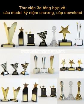 Thư viện 3d tổng hợp về các model kỷ niệm chương, cúp download