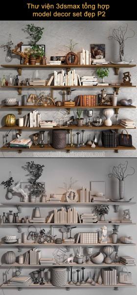 Thư viện 3dsmax tổng hợp model decor set kệ trang trí đẹp P2