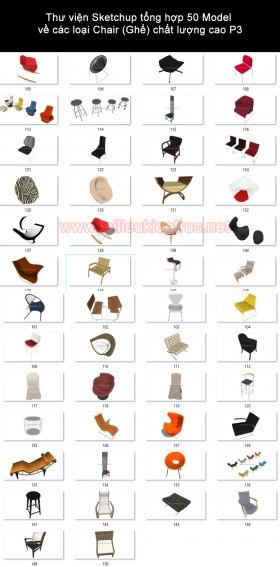Thư viện Sketchup tổng hợp 50 Model về các loại Chair (Ghế) chất lượng cao P3