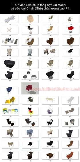 Thư viện Sketchup tổng hợp 50 Model về các loại Chair (Ghế) chất lượng cao P4