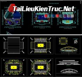 Đồ án kiến trúc sư - Tổng hợp 2 file autocad đồ án nhà thi đấu bóng rổ