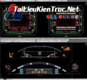 Đồ án K9 kiến trúc sư - Đồ án nhà thi đấu có mái che gồm toàn bộ bản vẽ autocad