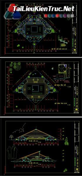 Đồ án K9 kiến trúc sư - Đồ án nhà thi đấu có mái che gồm toàn bộ bản vẽ autocad MS11