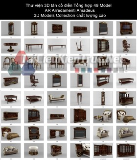 Thư viện 3D tân cổ điển Tổng hợp 49 Model AR Arredamenti Amadeus - 3D Models Collection chất lượng cao