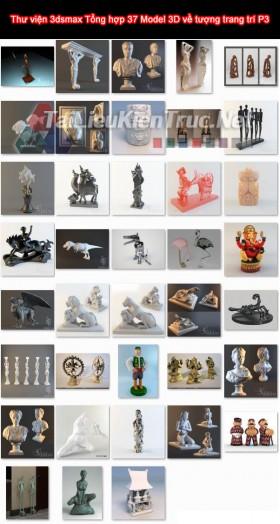 Thư viện 3dsmax Tổng hợp 37 Model 3D về tượng trang trí P3