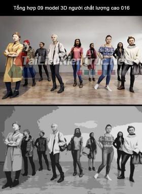 Tổng hợp 09 model 3D người chất lượng cao 016 full download