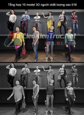 Tổng hợp 10 model 3D người chất lượng cao 018 full download