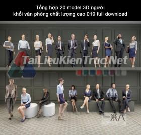 Tổng hợp 20 model 3D người khối văn phòng chất lượng cao 019 full download