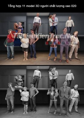 Tổng hợp 11 model 3D người chất lượng cao 020 full download