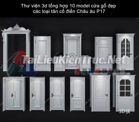 Thư viện 3d tổng hợp 10 model cửa gỗ đẹp các loại tân cổ điển Châu âu P17