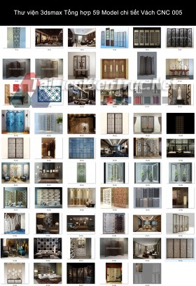 Thư viện 3dsmax Tổng hợp 59 Model chi tiết Vách CNC 005