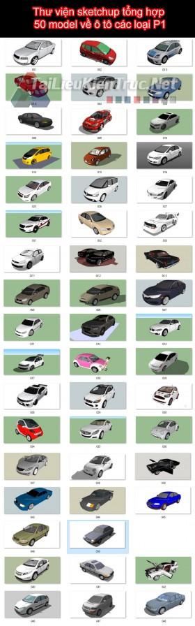 Thư viện sketchup tổng hợp 50 model về ô tô các loại P1