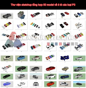 Thư viện sketchup tổng hợp 50 model về ô tô các loại P3