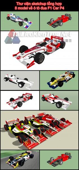 Thư viện sketchup tổng hợp 8 model về ô tô đua F1 Car P4