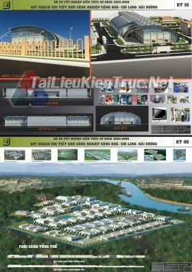 Đồ án tốt nghiệp KTS - Quy hoạch Khu Công Nghiệp Cộng Hòa - Chí Linh - Hải Dương