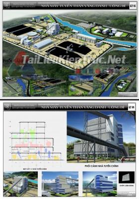 Đồ án tốt nghiệp kiến trúc sư - Thiết kế Nhà máy tuyển than Vàng Danh - Uông Bí MS14
