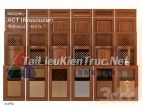 Thư viện 3dsmax tổng hợp về các Model Cánh tủ bếp đẹp và Pro P2