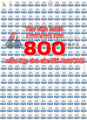Thư viện hatch Download hơn 800 mẫu đẹp cho các đời AutoCAD