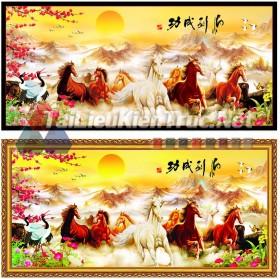 Thư viện photoshop file thiết kế psd Tranh Mã Đáo Thành Công đẹp