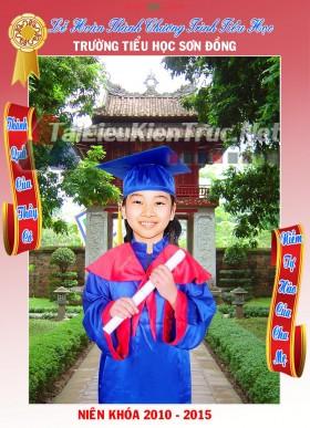 Thư viện photoshop file thiết kế psd Ảnh Phông áo cử nhân cho khối tiểu học