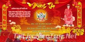 Thư viện photoshop file PSD Phông bạt mừng thọ 2018