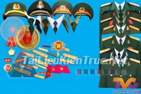 Thư viện photoshop file PSD Mẫu áo quân phục quân đội nhân dân việt nam