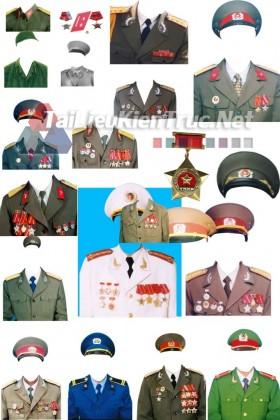Thư viện photoshop file PSD Mẫu áo quân phục quân đội nhân dân việt nam p2