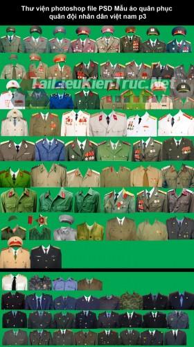 Thư viện photoshop file PSD Mẫu áo quân phục quân đội nhân dân việt nam p3