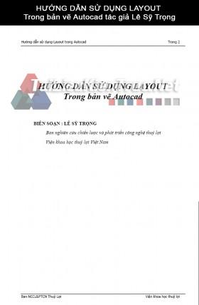 HƯỚNG DẪN SỬ DỤNG LAYOUT Trong bản vẽ Autocad tác giả Lê Sỹ Trọng