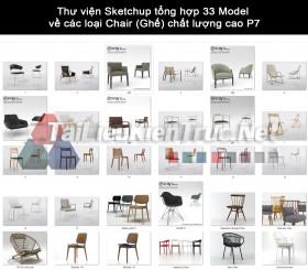 Thư viện Sketchup tổng hợp 33 Model  về các loại Chair (Ghế) chất lượng cao P7