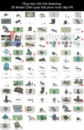 Tổng hợp 100 File Sketchup 3D Model Cảnh quan Đài phun nước đẹp P6
