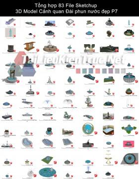 Tổng hợp 83 File Sketchup 3D Model Cảnh quan Đài phun nước đẹp P7