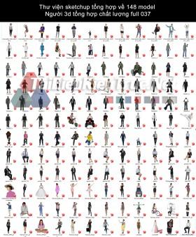 Thư viện sketchup tổng hợp về 148 model Người 3d tổng hợp chất lượng full 037